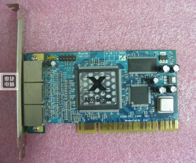 X300 PCI 3 Port Card and thin client cloud terminal DHL EMS free shipping Used disassemble(China (Mainland))