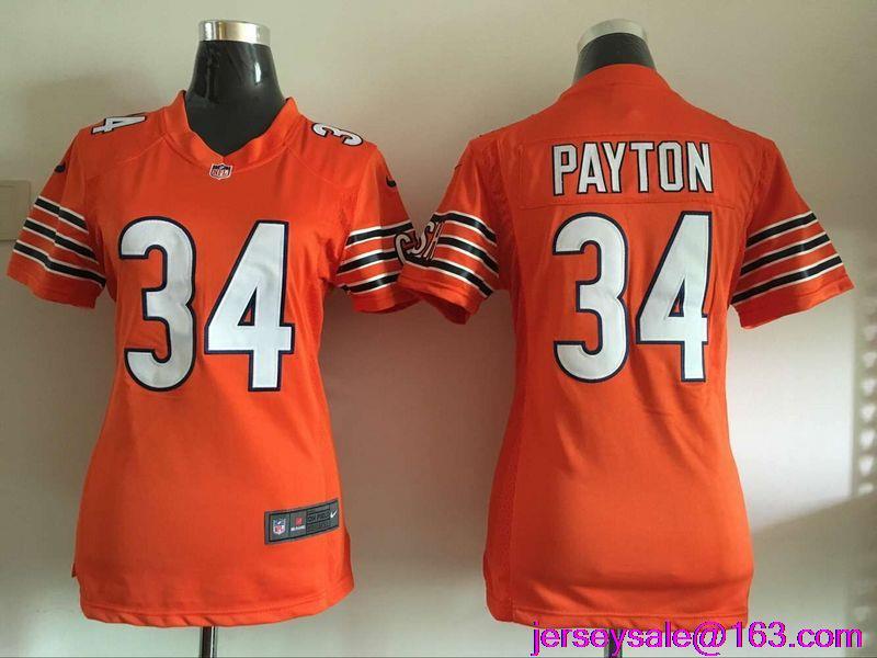 2016 Women Chicago Bears 34 Walter Payton Kyle Orange Navy #89 Mike Ditka,#17 Alshon Jeffery,22 Matt Forte(China (Mainland))
