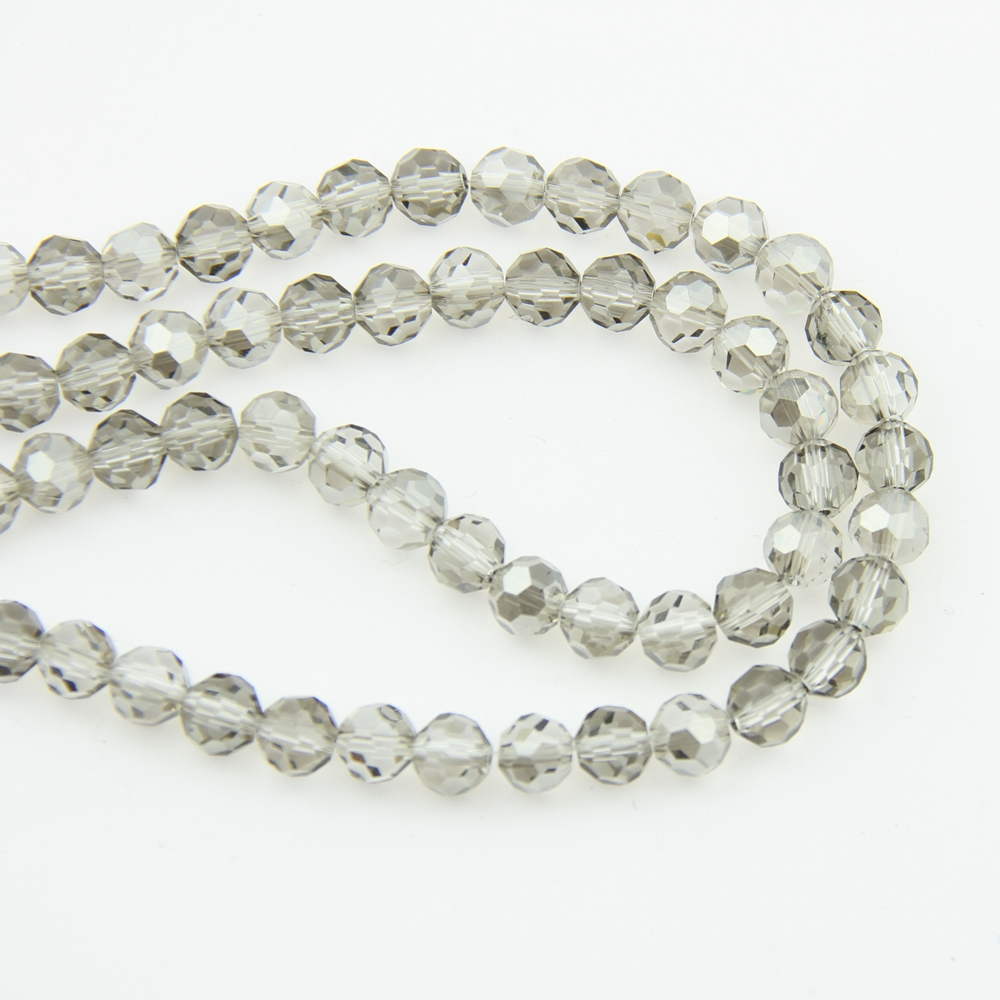 8-10mm Crystal Balls Gray Flet (720-1440pcs) 32 Faceted Glass Football Cut Beads In Crafts For Home Decoration DIY(China (Mainland))