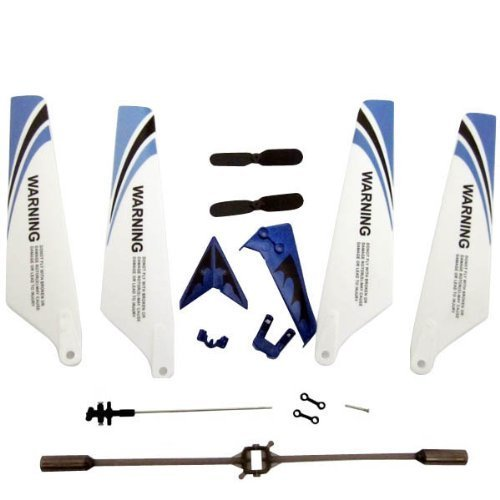 Blue Syma S107G RC Helicopter Spare Parts Set Main Blades Tail Decorations Connect Buckles Balance Bar Tail Blades Main shaft(China (Mainland))
