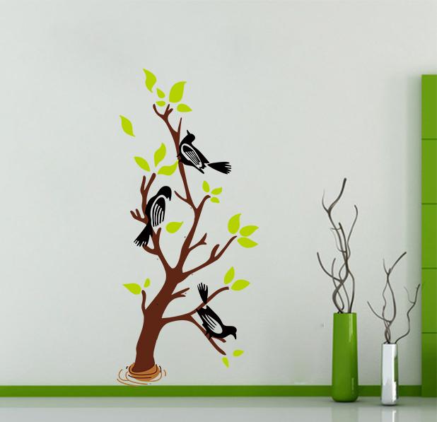 Стикер стены большой элегантный птицы дерево s изящные s X018 романтическая гостиная украшения