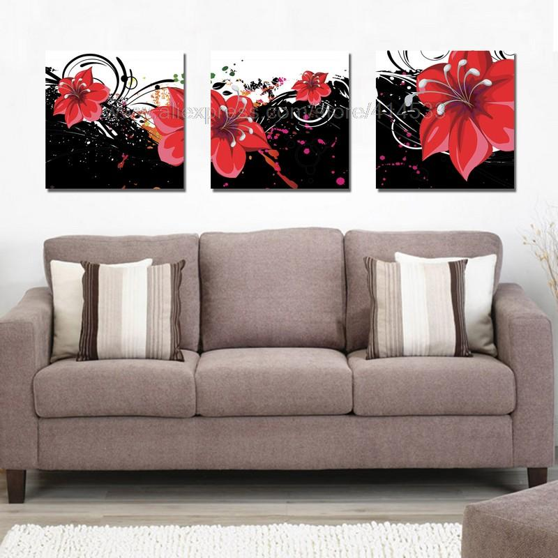 Dining Room Wall Art Canvas Of Red Flowers Print Painting On Canvas Dining Room Paintings