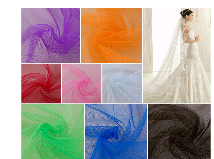 Buy 160cm width colorful mesh soft light for Wedding dress fabric store