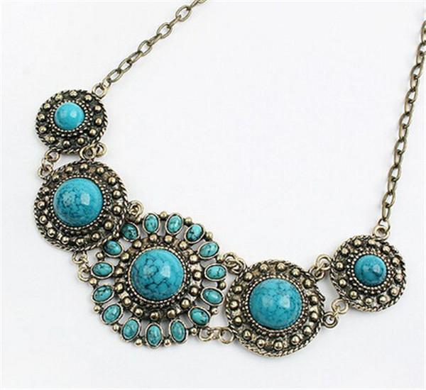 Fashion Stone Necklace Essentials Women Lady bohemian boho ...