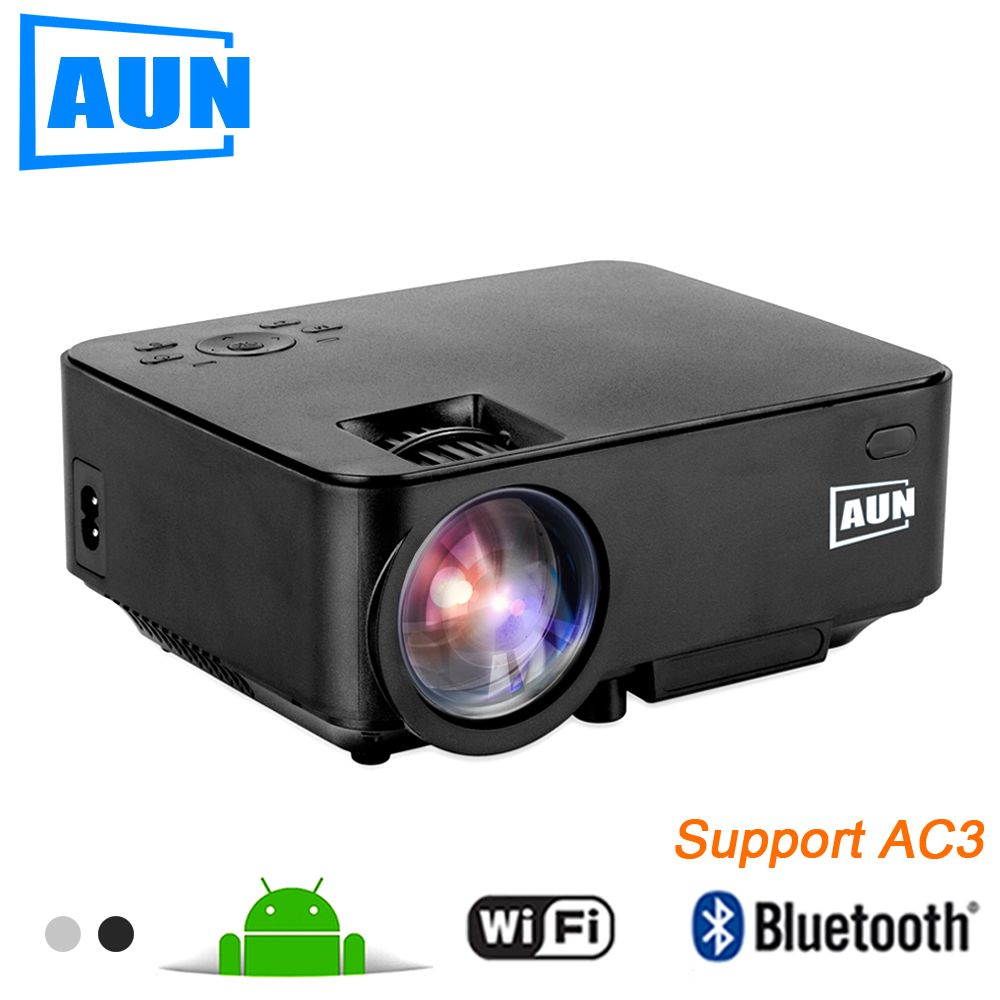 Aun projector 2 in 1 led projector tv box set in android for Projector tv reviews