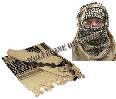 Free Shipping Shemagh Military Arab Tactical Tan Color Desert Keffiyeh Scarf 31008(Military Scarf Army Tactical Scarf )