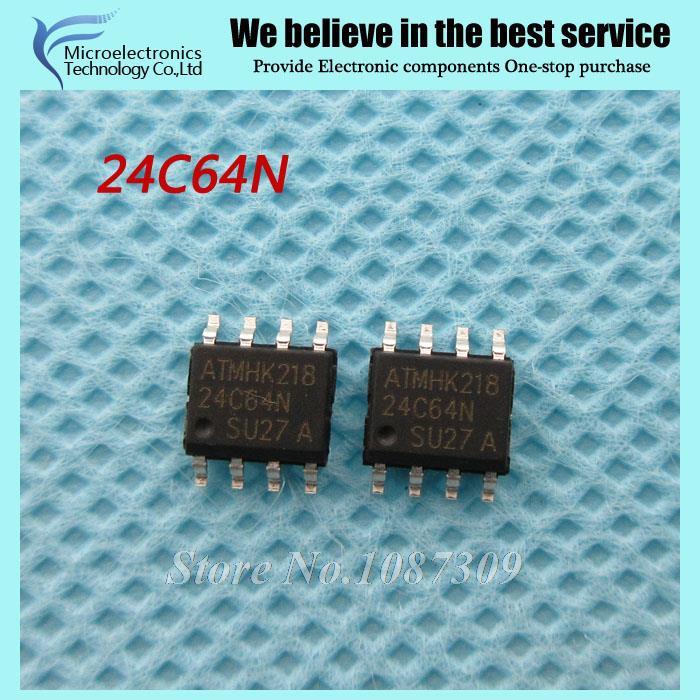 50PCS free shipping AT24C64N 24C64N 24C64 AT24N64 SOP-8 EEPROM 32/64k 2-Wire Bus new original(China (Mainland))