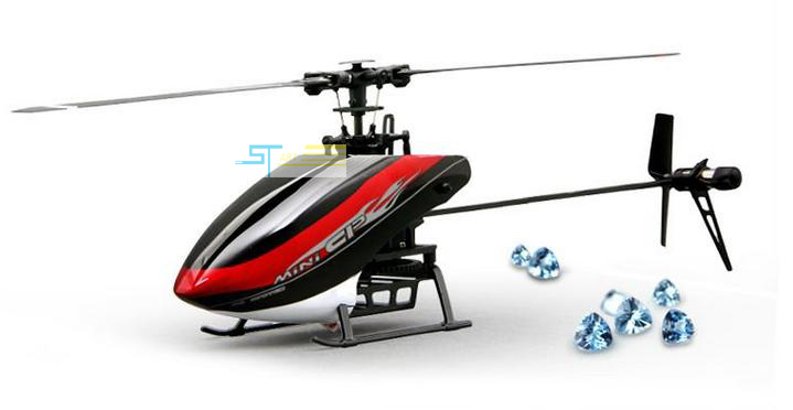 Walkera Mini CP Flybarless 3-Axis-Gyro 2.4G 6 CH 3D RC Helicopter with DEVO - 7E LCD transmitter RTF Fast Shipping girl toy(China (Mainland))