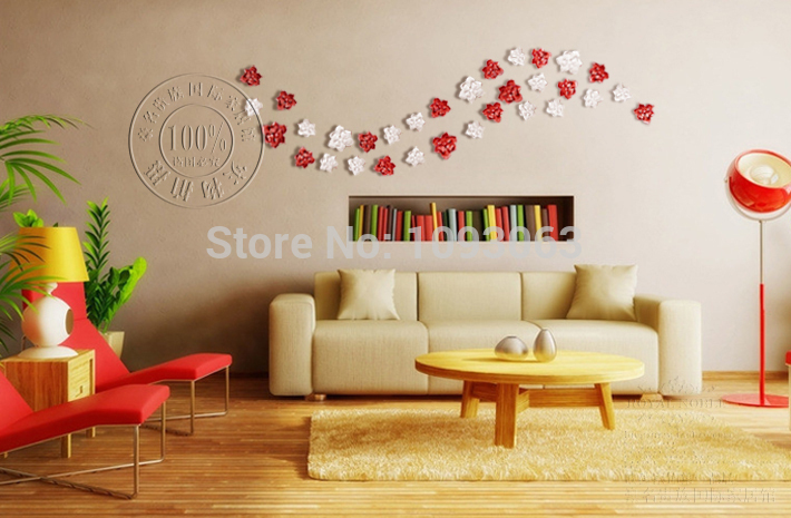 Resin Decorative Wall Flowers Small Big Decoration Creative Home