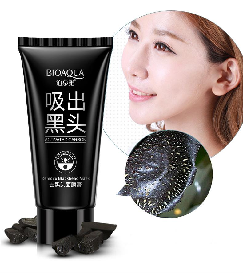 черная маска для лица из желатина