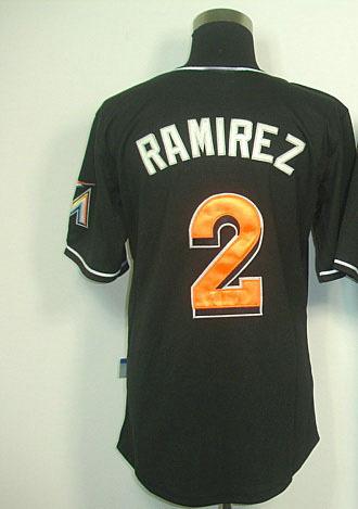 Men's Jerseys,Discount 2 RAMIREZ black jerseys new style hanley ramirez jersey baseball uniform(China (Mainland))