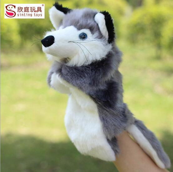 Fox two color hand puppet kids doll plush baby PUPPETS toys Christmas birthday gift Children Stuffed Toy(China (Mainland))