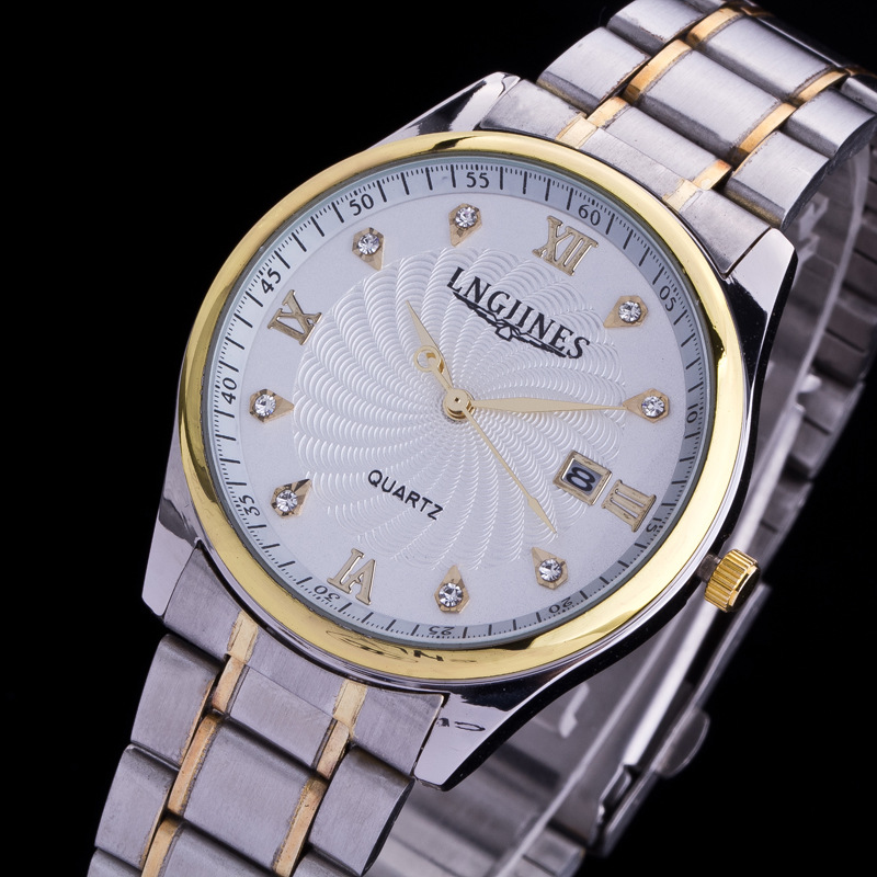 2015 Luxury Brand Automatic Man Stainless Steel Watch Classic Chronograph Men Watches With Dates Business Men Quartz Wristwatch