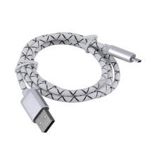 New 1m Aluminum Plug Phone Micro USB Data Sync Charge Cable White for Android Wholesale(China (Mainland))