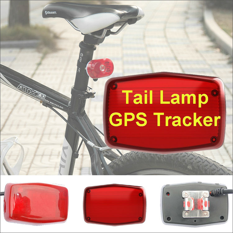 Bicycle taillight GPS Tracker with IP67 waterproof, Cut off power supply, Geofence, SOS Button and Remote Controller(China (Mainland))