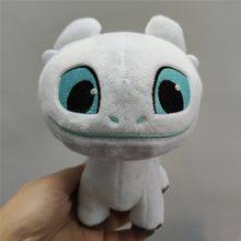 3 Luz quente Como Treinar O Seu Dragão Fúria Da Noite Desdentado Fúria Dragão Bichos de pelúcia Brinquedos de Pelúcia Macia Branco Preto boneca Brinquedos para Crianças(China)