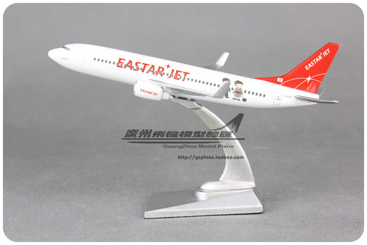 16cm Korea EASTAR JET Airlines Plane Model Boeing B737 Resin Airplane Model Kids Toy Gift Collections Free Shipping(China (Mainland))