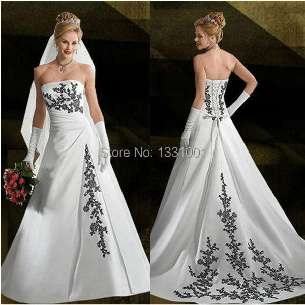 Сексуальный свадьба платье чёрно-белый свадебные платья для женщин Vestido Novia винтажный платья