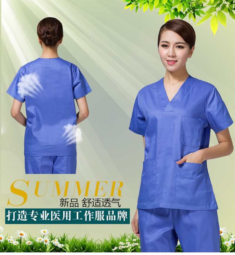 100% Cotton made Medical uniforms Hospital Lab Coat Women Hospital Medical Scrub Clothes Uniform Breathable work wear blouses(China (Mainland))