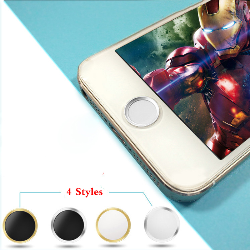 Metal Aluminium Round Mobile Phone Home Button Sticker For iPhone 6 6S Plus 4S 4 5 5S 5 3GS iPad 2 3 iPod Touch 4 5 6 Key Paster(China (Mainland))