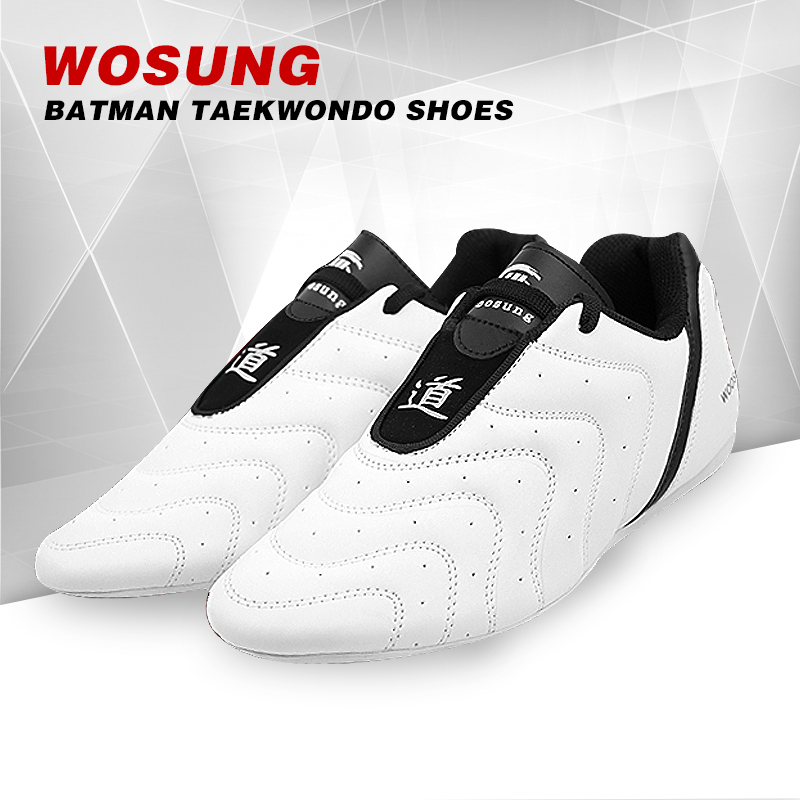free shipping taekwondo shoes child pu leather