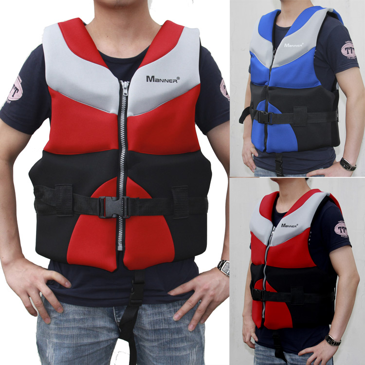 Best quality adult jackets life-saving 100% NEOPRENE bear the weight of 70-100 kg fishing life vest free shipping(China (Mainland))