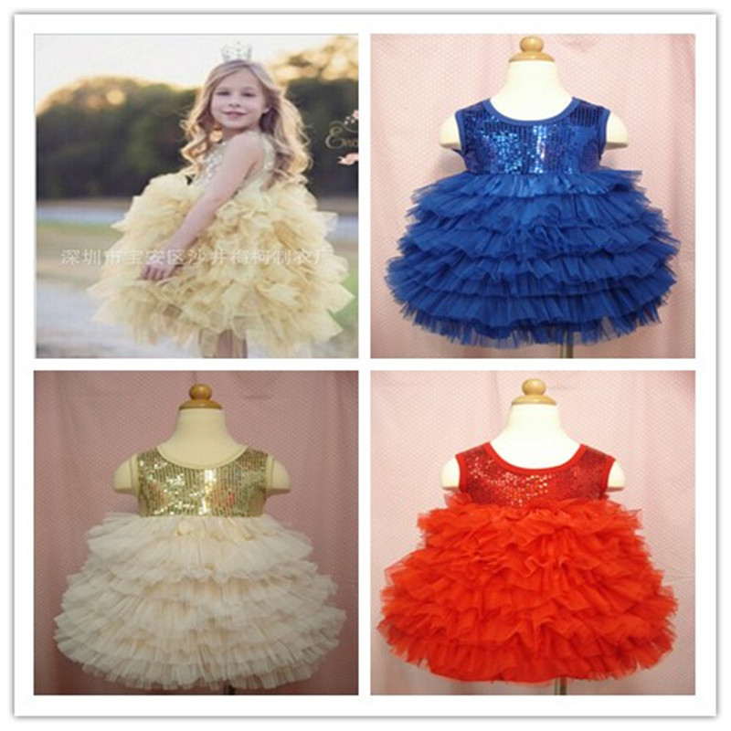 Red Vintage Insprired Tutu Baby Girls Dress Baby Cake Birthday Outfit Toddler Sequin Dress Toddler Girl Clothing Wholesale(China (Mainland))