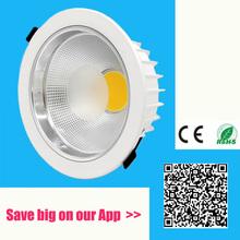5w 7w 10w 12w 15w 20w 30w 40W 50W 60w LED COB downlight Dimmable Recessed LED Ceiling Lamp Spot Light White/warm led lamp cree(China (Mainland))