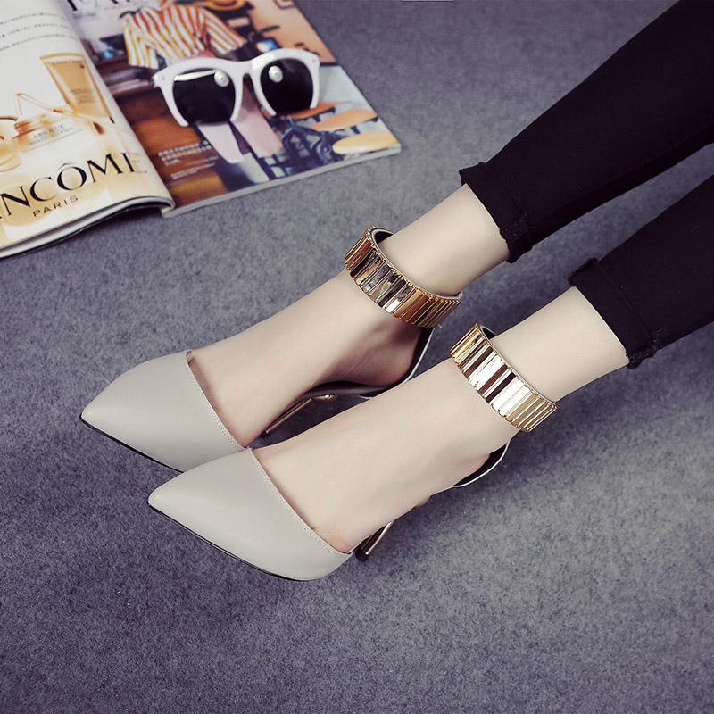 2016 venda quente mulheres bombas pu apontou toe moda mulheres sapatos de verão inferno senhoras bombas 2 cores