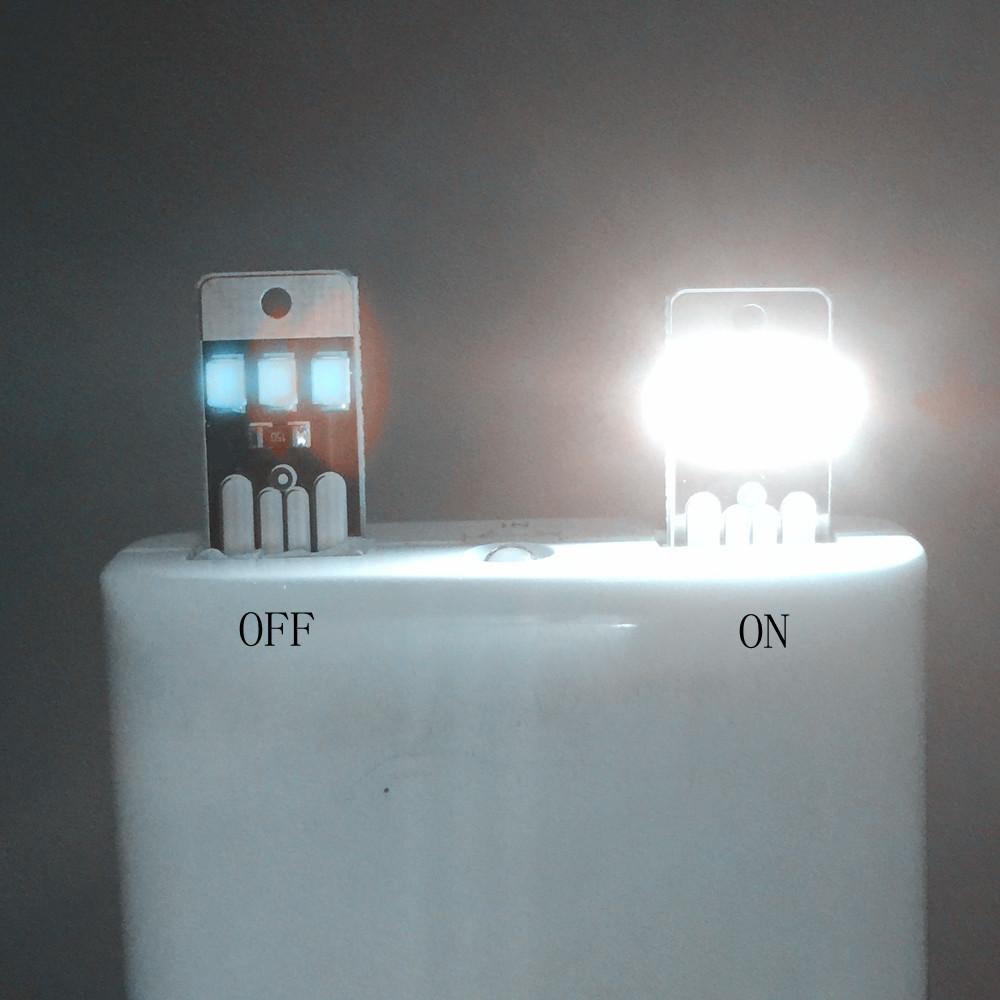 White Mini LED Night Light Portable USB Power Pocket Card Lamp Bulb Led Free Shipping(China (Mainland))