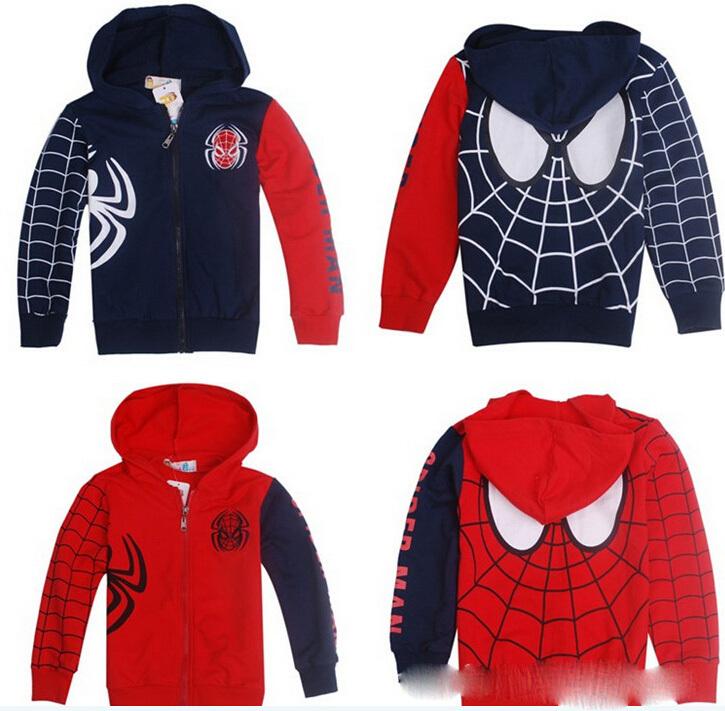 Baby boys coat kids children long sleeve spider man spiderman Hoodies Sweatshirt girl jacket 0908 sylvia 1081554415(China (Mainland))