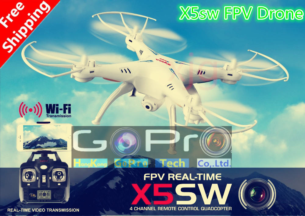 Drone SYMA X5SW X5SW-1 FPV with 2.0MP HD camera WiFi remote helicopter upgraded version vs syma x8c mjx x600 JJRC h12c V686 H9D(China (Mainland))
