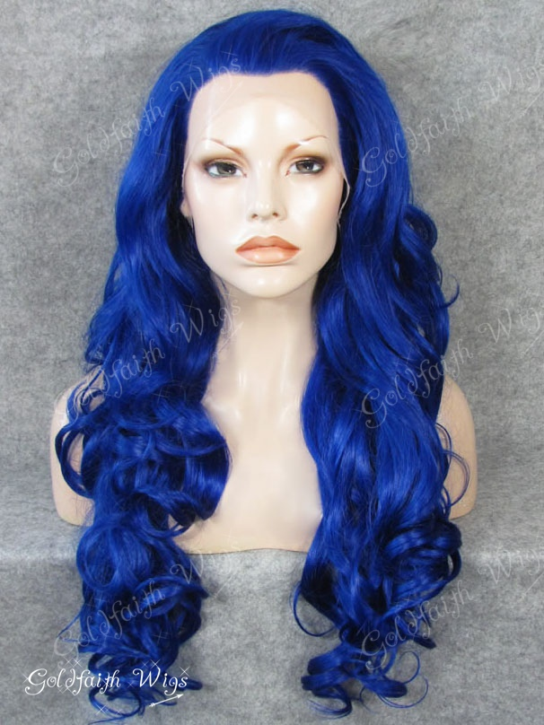 #3500 Long Fashion Wavy Lace Front Synthetic Wig Celebrity Stylish Heat Resistant Wig S07<br><br>Aliexpress