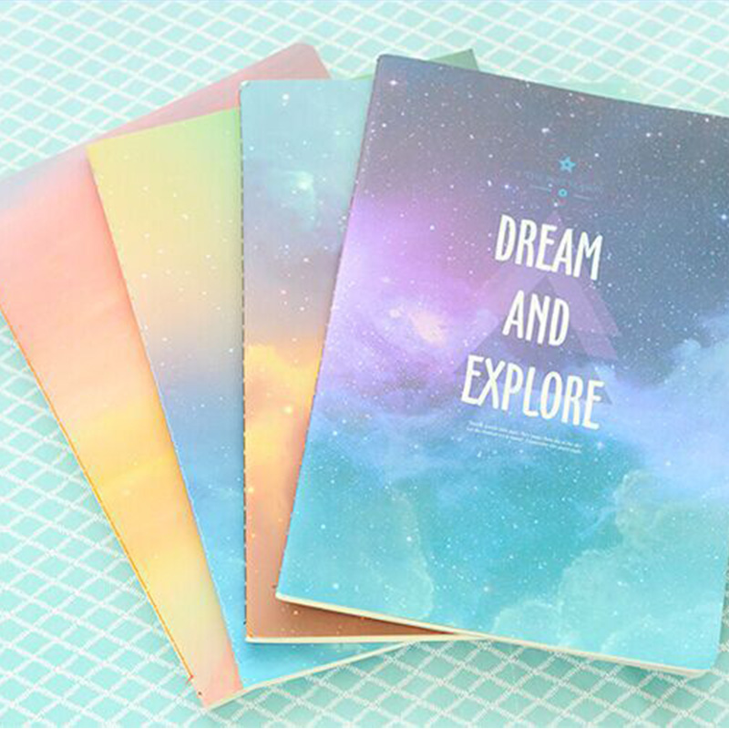 New School Notebook Journal Diary Notepad Creative Trends Book Starry Sky Series Stationery Product Office School Supplies Gift(China (Mainland))