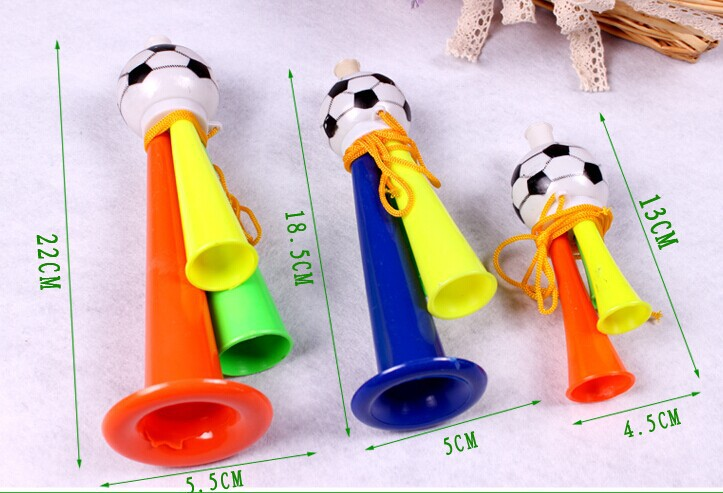 Free shipping,3 sizesFootball trumpet,horn,14cm length,whistle,cheerleading in the football, basketball game GYH(China (Mainland))