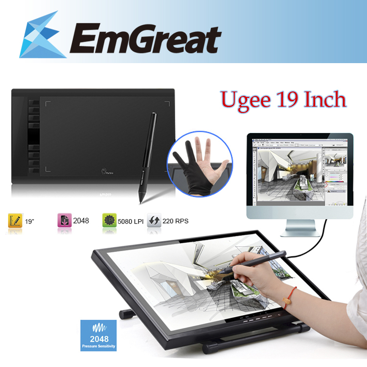 """Ugee UG-1910B 19"""" LCD Monitor Art Graphic Drawing Tablet + Parblo A610(Ugee M708) Graphic Tablet Board Pad as Huion GT-190(China (Mainland))"""
