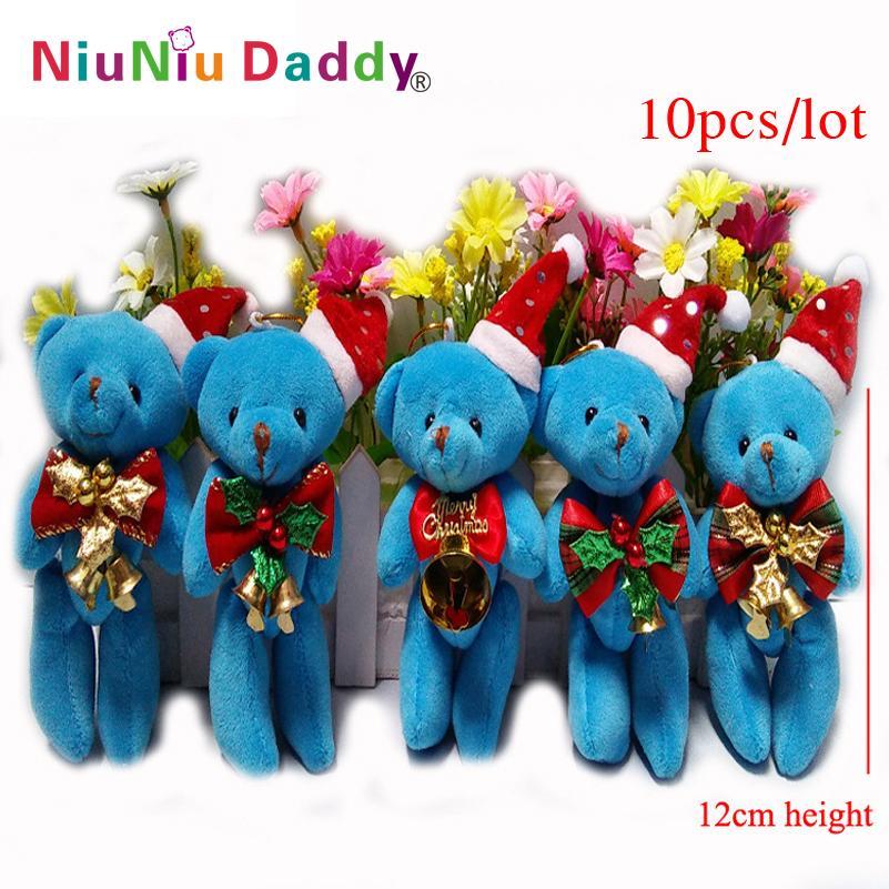 10pcs / lot Christmas decoration gift Christmas tree decorative plush toys pendant Wholesale(China (Mainland))