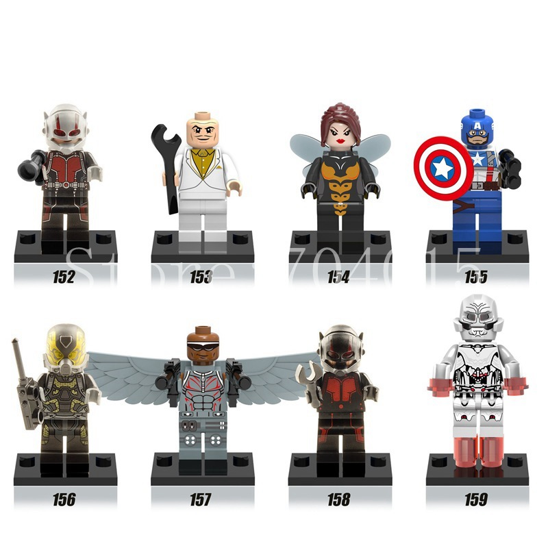 Ant-Man The Avengers Superheroes 8 Action Mini Figures Building Toys Blocks Kids Gift Compatible With LEGO(China (Mainland))