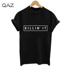 Buy QAZ Women Black White Killin American T shirt Woman Tee Fashion Tops Street Hippie Punk Womens Tshirt 3XL-903 for $7.75 in AliExpress store