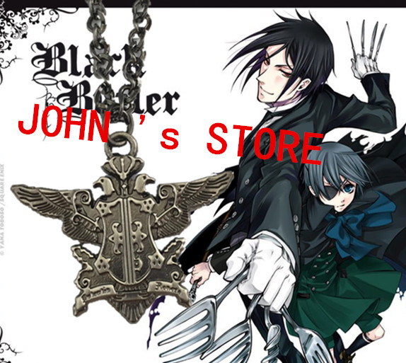 Freeshipping wholesale 20pc a lot Black Butler Necklace WBCX01<br><br>Aliexpress