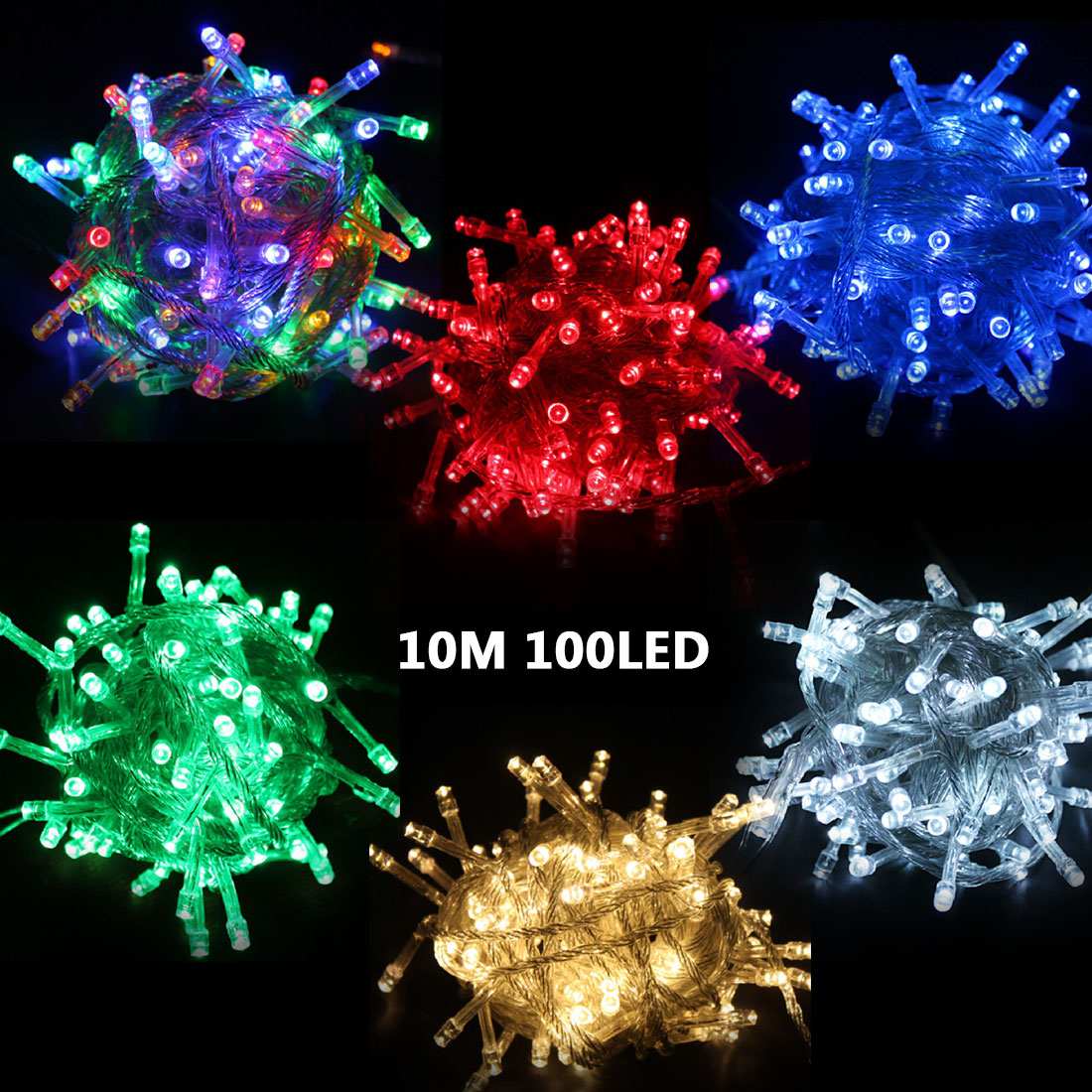 Great 10M Waterproof String Fairy Light Christmas Xmas Party Light Eu Plug Decoration Waterproof 220V 100 Leds Light(China (Mainland))