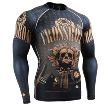 Muscle Men Compression Tight T-shirt Long Sleeves 3D Full Prints MMA GYM Rashguard Fitness Base Layer Weight Lifting Wear Tops