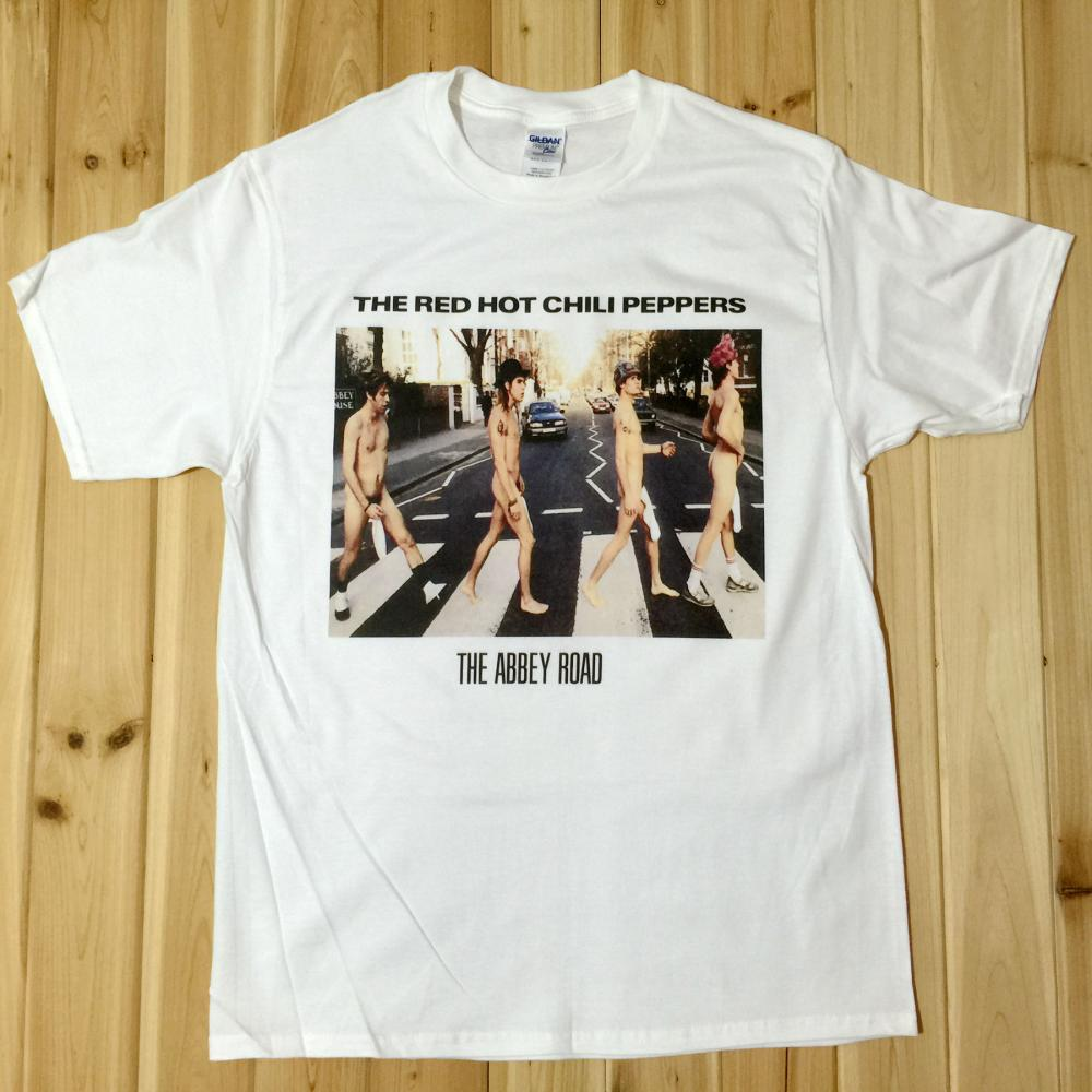 Red Hot Chili Peppers The Abbey Road Rock Music Band CD T-Shirts Unisex RP17(China (Mainland))