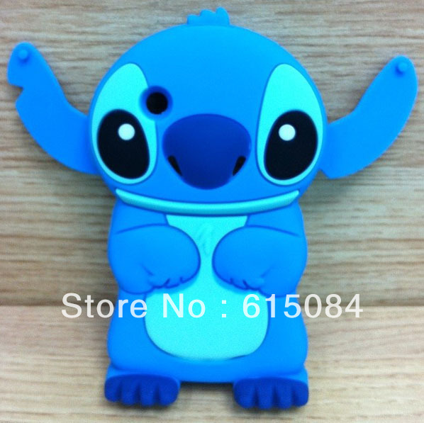 1 pcs Free Shipping New Arrival Cute 3D Stitch Silicone Case Cover For Blackberry 8520 BB8520 Case(China (Mainland))