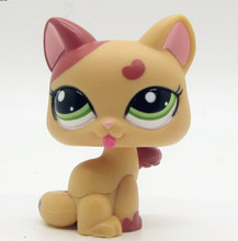 LPS cute toys Lovely Pet shop animal love heart lovable standing cat action figure doll(China (Mainland))