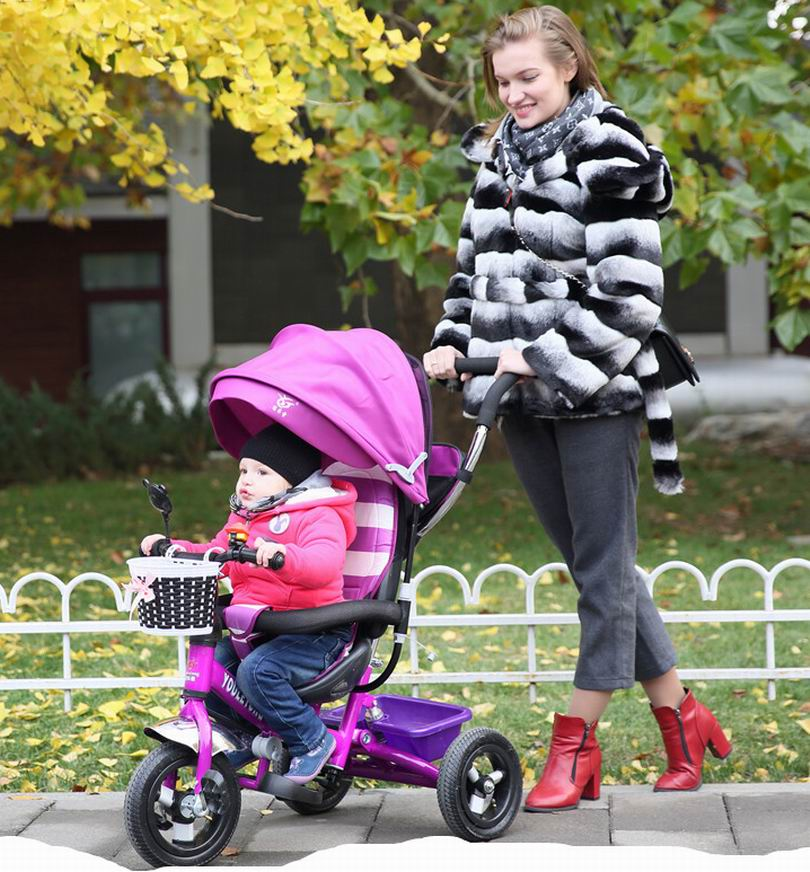 2016 high quality inflate tire Baby child tricycle trolley baby stroller baby carriage bike bicycle for 6 month--6 years old(China (Mainland))