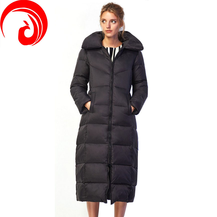 2016 new winter coat Women's thick duck down jacket women longer section knee wholesale female models big yards Y12(China (Mainland))