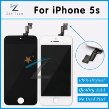 100 PCS/LOT 100% Original LCD for iPhone 5S Display with Digitizer Replacement Quality AAA & No Dead Pixel Free DHL Shipping(China (Mainland))