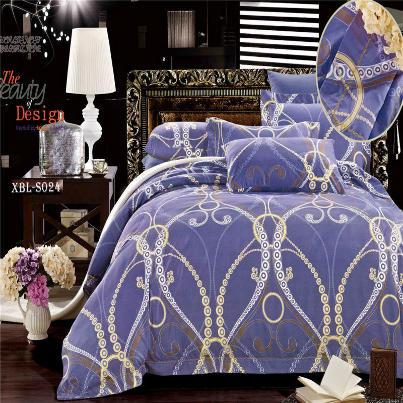 100 polyester microfiber fabric bed sets 2015 luxury bedding set conforter home textiles(China (Mainland))