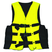 2016 New Professional Swimwear Polyester Adult Life Jacket Foam Vest Survival Suit with Whistle for Swimming Drifting(China (Mainland))